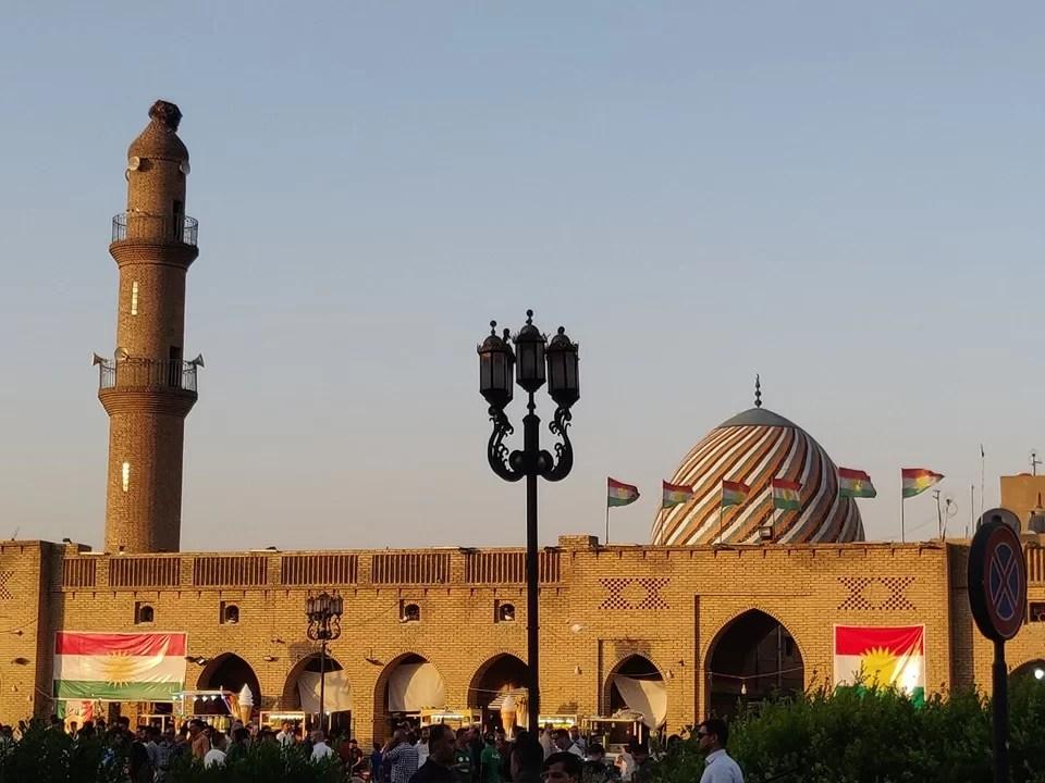 La moschea nella piazza principale di Erbil