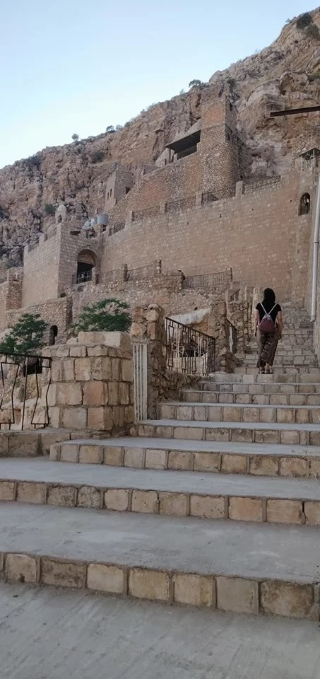 La scalinata che porta al Monastero di Rabban Hormizd ad Alqosh