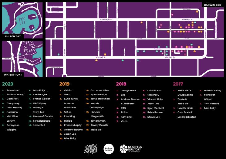 Darwin Street Art Map 2020