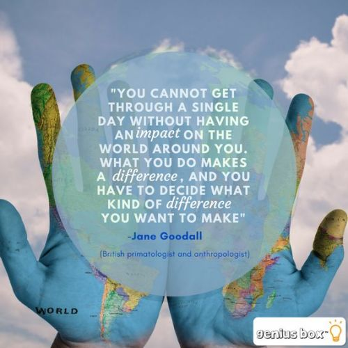 Jane Goodall Make A Difference Quote