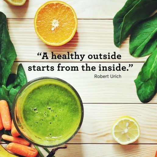 A Healthy Outside Starts from the Inside Quote