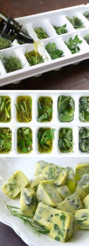 Freeze Fresh Herbs Veggies in Olive Oil The Kitchn