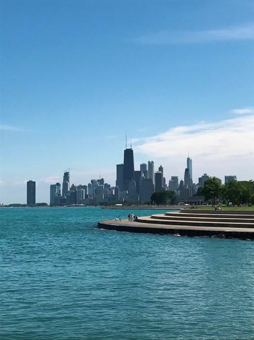 Lake Michigan Chicago Skyline Small