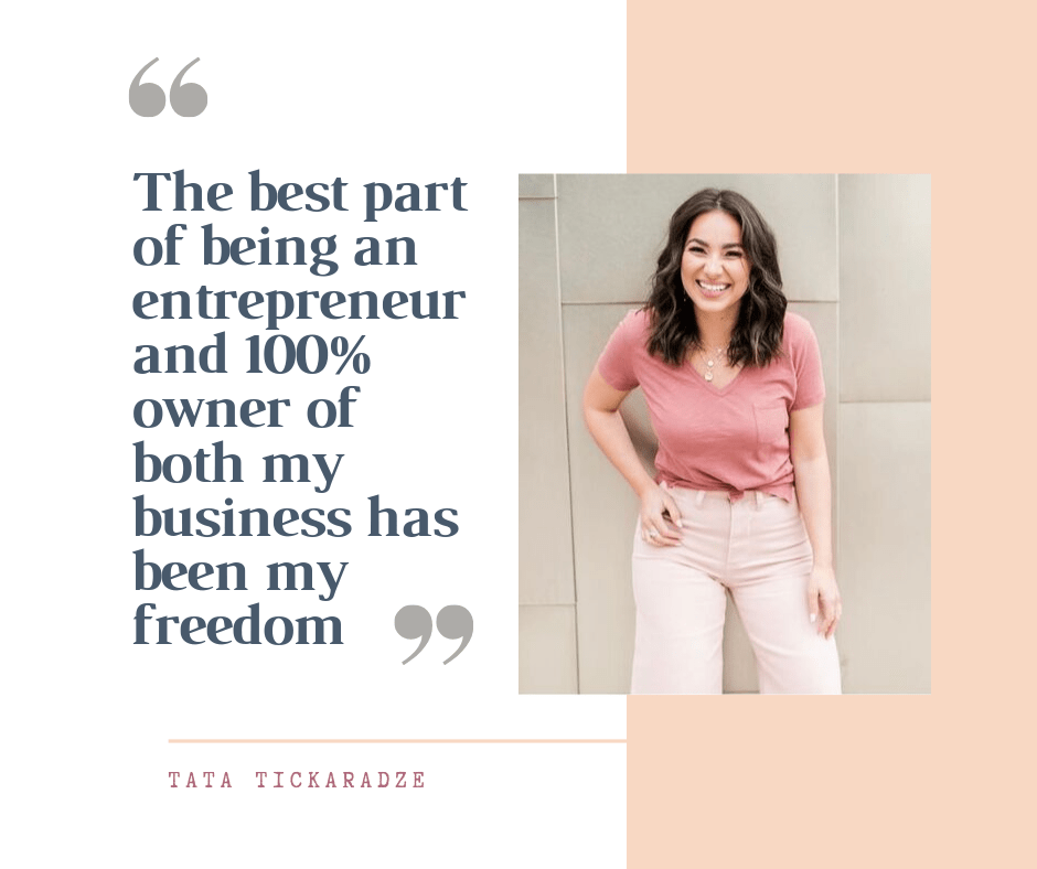 Copy of Copy of The best part of being an entrepreneur and 100% owner of both my business has been my freedom