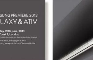 conférence de presse Samsung présentera ses nouveautés Galaxy et Ativ à Londres le 20 Juin 2013