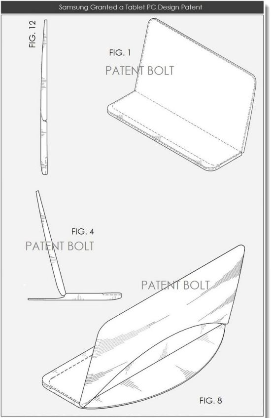 brevet écran tablette se pliant en 2