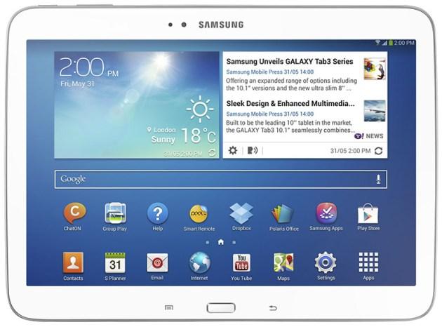 Samsung présente sa nouvelle Galaxy tab3 10.1