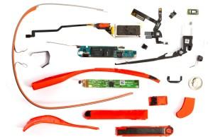 Google Glass démontées en pièces détachées