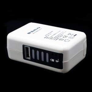 adaptateur secteur avec batterie intégrée pour smartphone