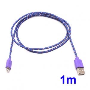 nouveaute cable tissé de synchro charge lightning pour iPhone 5 et iPad