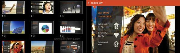 Office Mobile pour Office 365 est aussi compatible avec PowerPoint