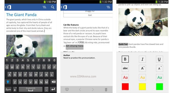 Microsoft Office Mobile pour smartphone Android