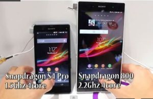 comparatif video Sony Xperia Z face au Xperia Z ultra