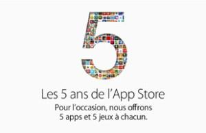 promo 5 ans de l'App store