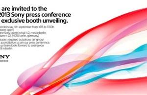 carton d'invitation Sony au salon IFA de Berlin