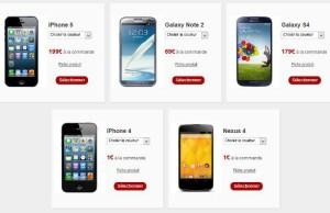 smartphones subventionnés