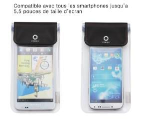 compatible avec tous les appareils jusqu'à écran 5,5 pouces type Galaxy Note