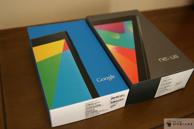 boite de la nouvelle tablette Google Nexus 7