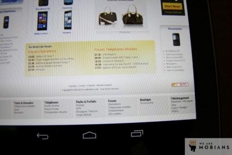 écran Nexus 7 version 2012