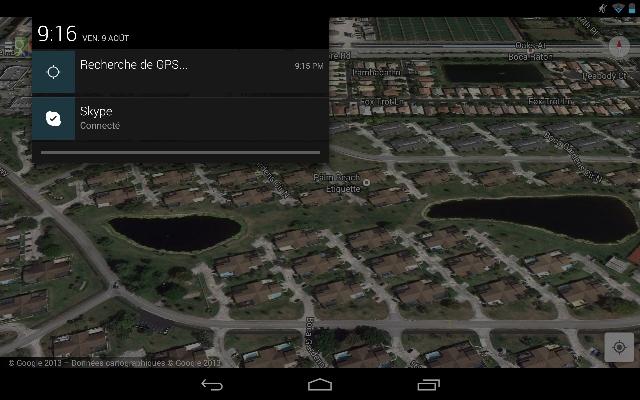recherche du signal GPS (bug)