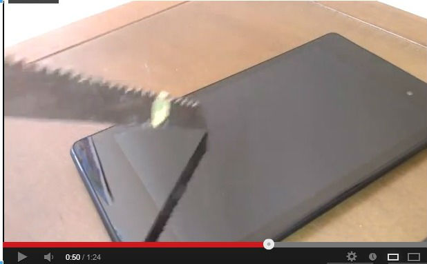 test écran anti-rayure du Nexus 7