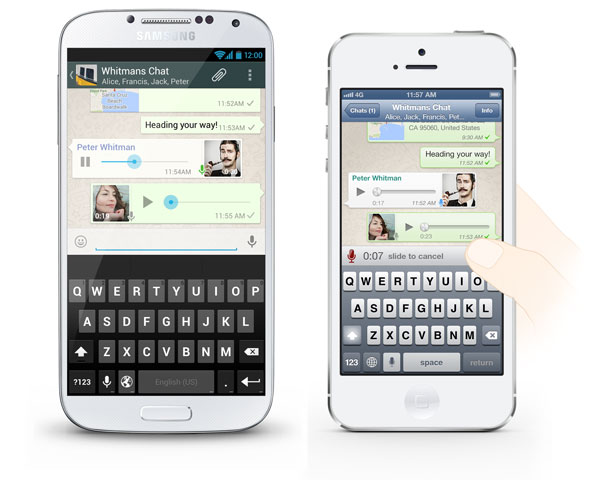 WhatsApp transforme votre smartphone en Talkie Walkie