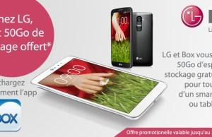 50Go gratuit sur Box pour les clients LG
