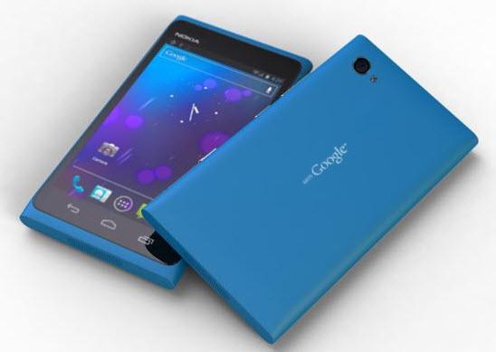 photo montage du Mountain View, prototype Nokia sous Android