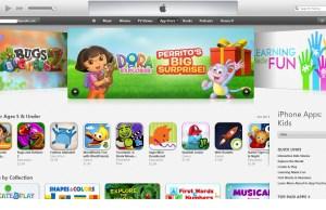 section iTunes pour découvrir les applications mobiles pour enfants