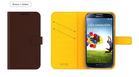 étui cuir pour Galaxy S4