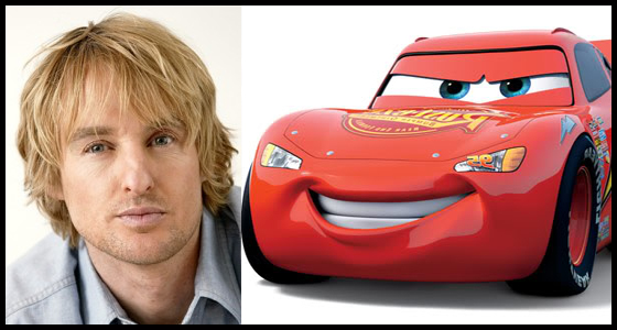 Owen Wilson and Lightning McQueen