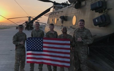 OSD Supply Drop Provides Morale Boost to Soldiers Deployed from Wheeler Army Airfield