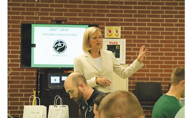 PISD Athletic Director Holds Convocation to Kick-Off School Year