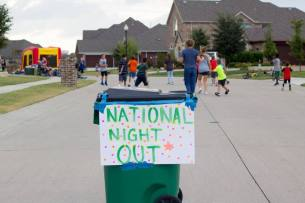 Prosper residents take to the streets during a National Night Out Block Party on Tuesday October 3