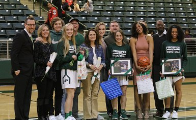 Seniors Honored at PHS Basketball Games on February 2nd