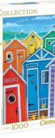 Rainbow beach huts, 1000p. - Clementoni