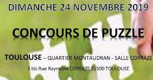 Concours Puzzle 2019 - Toulouse (Fr) @ Salle Corraze   Toulouse   Occitanie   France
