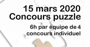 Concours Puzzle - 6h Puzzle - Perwez (Be) @ 45 Rue Emile Brabant 1360 Perwez | Perwez | Wallonie | Belgique