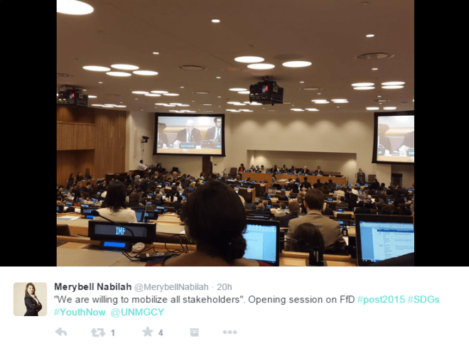 From the seat of Youth Governance and Accountability Task Team Member, Merybell Nabilah, at the Intergovernmental Negotiations, April 21st-24th