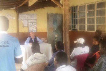 Nik Hartley Restless Development CEO in Sierra Leone