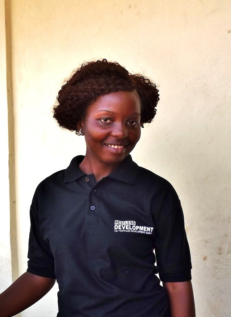 """Favour Abibatu Kamara, who joined Restless Development as a community facilitator for our Pull Slum Pan Pipul programme 3 years ago: """"You educate the girl, you educate the nation""""."""