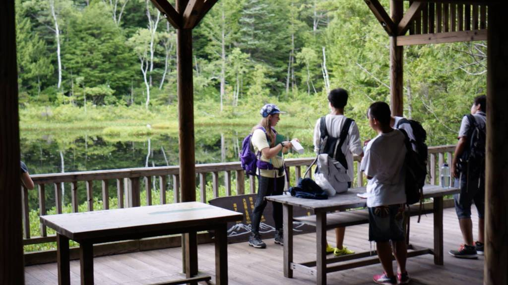 Avoiding reforestation. The author alongside other conservationists and activists working in Norikura, a Japanese National park.