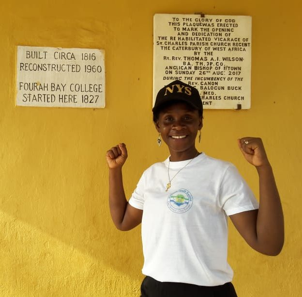 A picture of Eleanor Lusenie, Communication Intern at Restless Development. She is one of the young women tackling the issue of unemployment in Sierra Leone