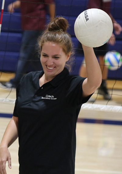 Volleyball coach Taylor Schubert