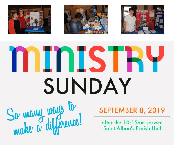 Ministry Sunday - September 8, 2019