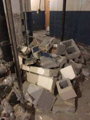 Additional demo of old bathrooms.