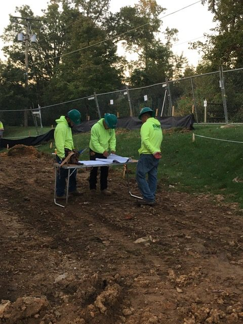 Planning for digging the footer.