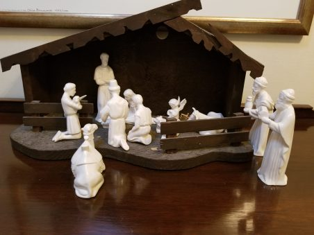 My dad made the stable and the figures. Cathlene W.