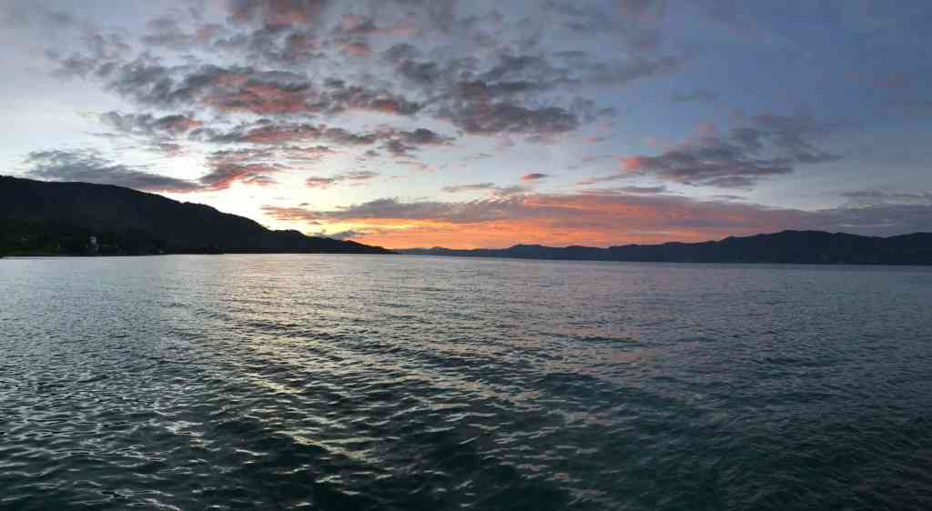 Sunset in Lake Toba