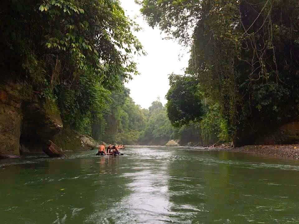 Jungle tubing Sumatra